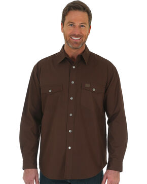 Wrangler Men's RIGGS Workwear Flannel Lined Ripstop Shirt - Big & Tall , Chocolate, hi-res