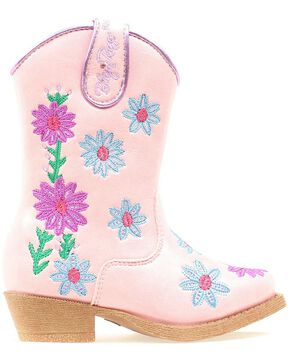 Blazin Roxx Toddler Girls' Daisy Floral Embroidered Cowgirl Boots - Snip Toe, Pink, hi-res