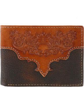 Hooey Men's Genuine Leather Bi-Fold Wallet, Brown, hi-res