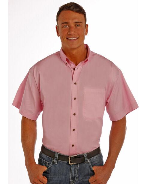 Panhandle Slim Men's Pink One Pocket Short Sleeve Shirt , Pink, hi-res