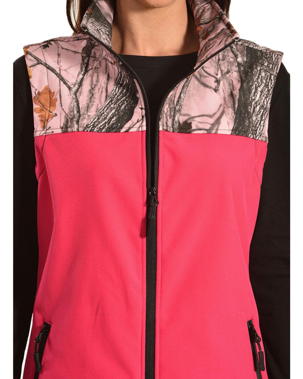 Red Ranch Hot Pink Camo Bonded Vest , Black, hi-res