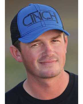 Cinch Men's Royal Blue Mesh Back Trucker Cap , Royal Blue, hi-res
