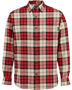 Wolverine Men's Hammond Long Sleeve Flannel Shirt , Red, hi-res