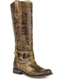 Stetson Women's Tan Paisley Western Boots - Round Toe , , hi-res