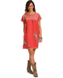 Johnny Was Women's Ellza Pleated Peasant Long Tunic , , hi-res