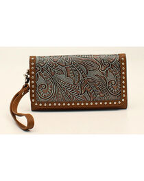 Blazin Roxx Floral Embossed Clutch Wallet, , hi-res