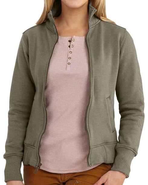 Carhartt Women's Dunlow Sweatshirt, Hthr Chrcl, hi-res