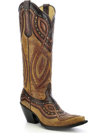 Corral Women's Studded Snip Toe Western Boots, , hi-res