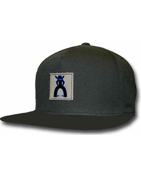 HOOey Men's Punchy Snapback Ball Cap, Black, hi-res