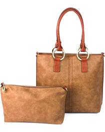 Treska Tan 2 Piece Nested Tote and Handbag , , hi-res