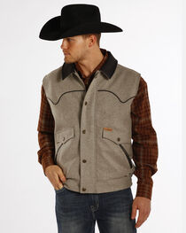 Powder River Outfitters Men's Holbrook Solid Wool Vest, , hi-res
