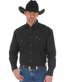 Wrangler George Straight Men's Troubadour Long Sleeve Shirt - Big & Tall, , hi-res