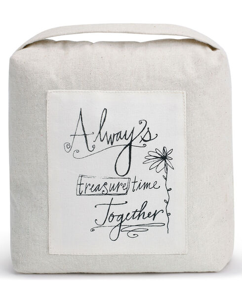 Demdaco White Time Together Door Stopper , White, hi-res