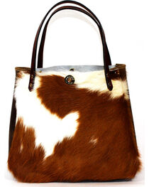 SouthLife Supply Women's Shiloh Cowhide Small Bucket Bag, , hi-res