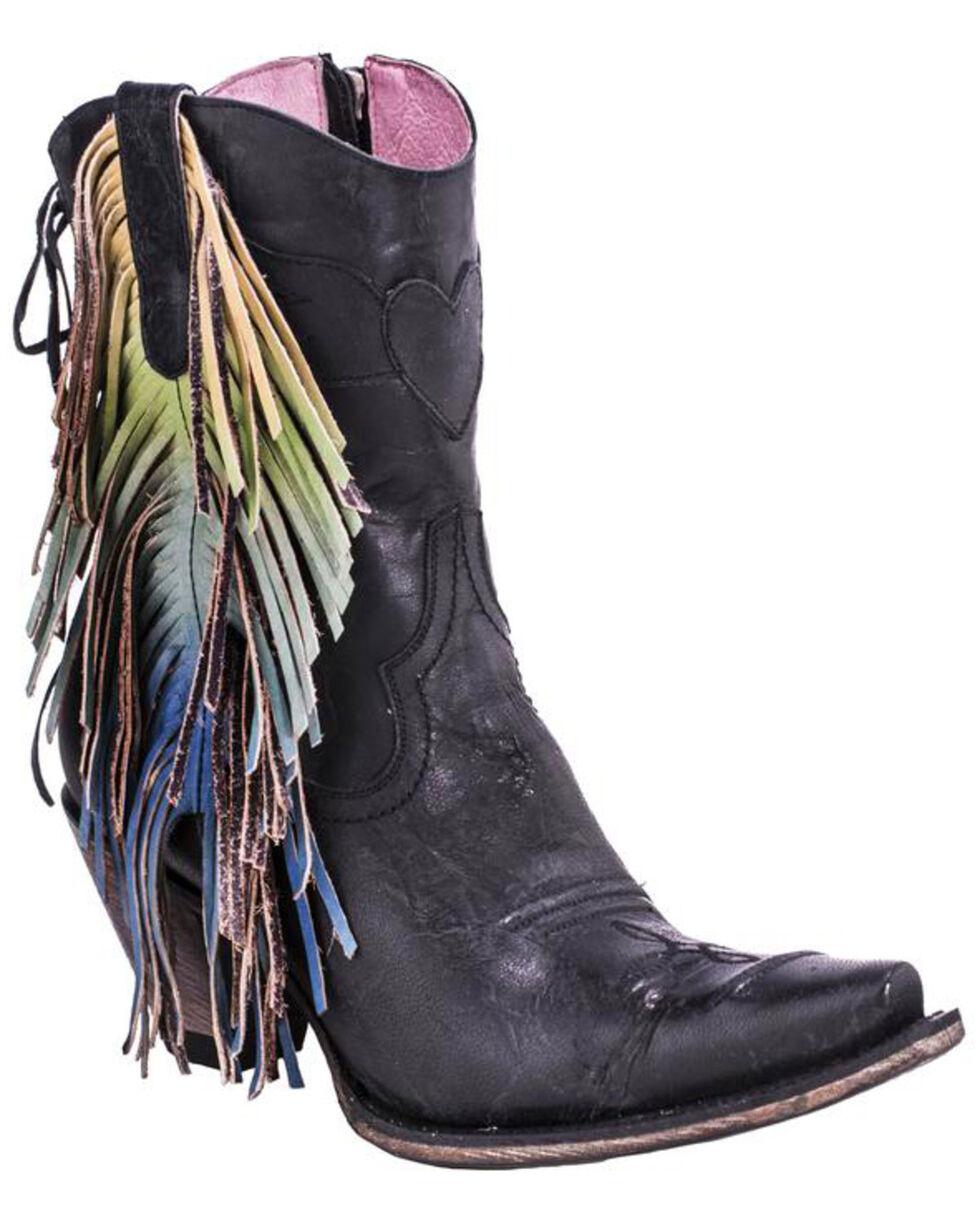 Junk Gypsy by Lane Women's Spirit Animal Ankle Boots - Snip Toe , Black, hi-res