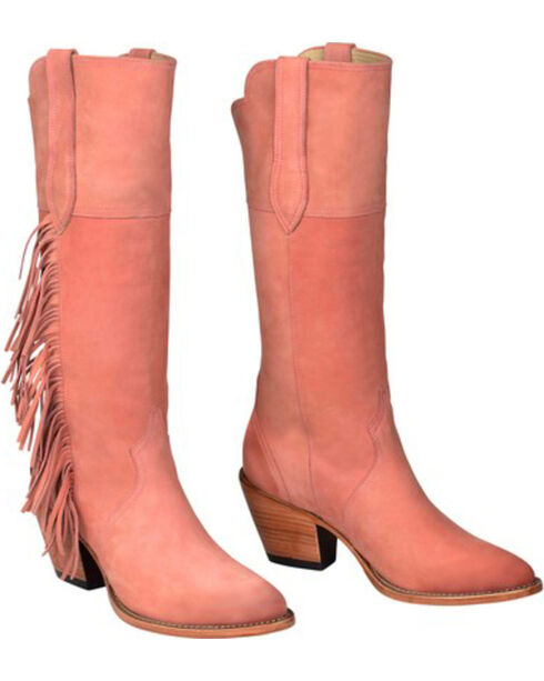 Lucchese Women's Kacey Musgraves Gallop Western Boots, Pink, hi-res