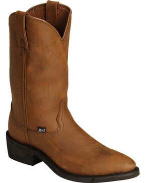 Justin Men's Ranch & Road Western Boots, Distressed, hi-res