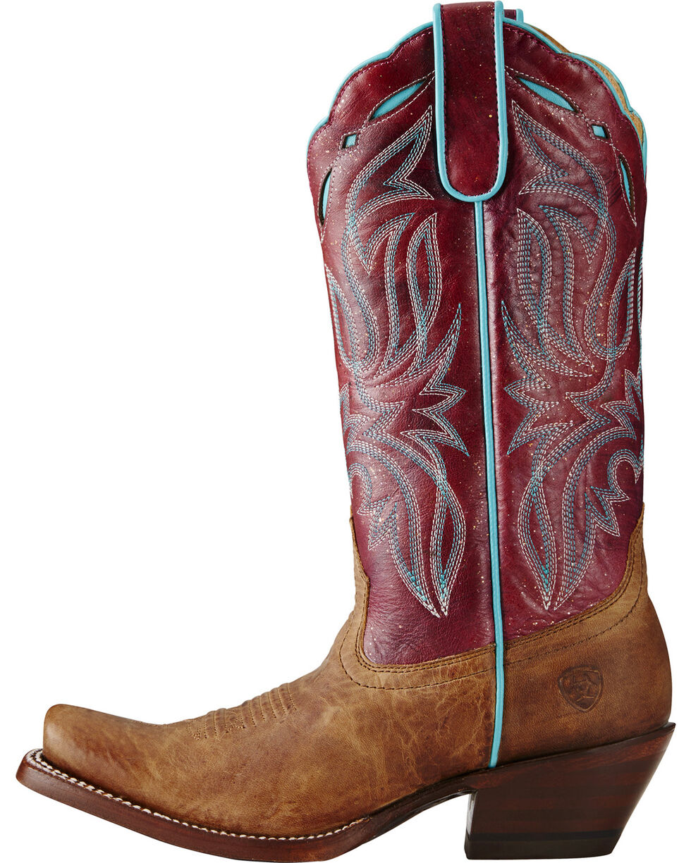 Ariat Women's Bristol Western Boots, Taupe, hi-res