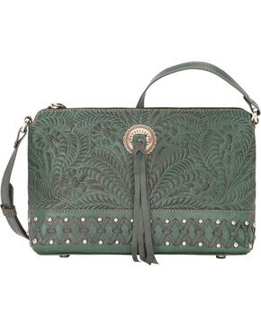 Bandana by American West Women's Dove Canyon Crossbody Bag , Turquoise, hi-res