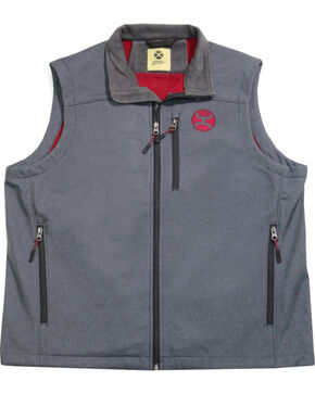 Hooey Men's Grey Crimson Logo Vest , Grey, hi-res