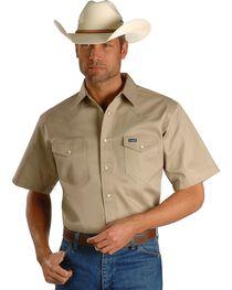Wrangler Twill Work Shirt - Big, Tall, , hi-res