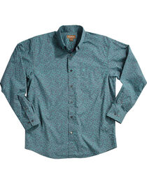 Ariat Men's Blue Aromas Print Western Shirt - Tall, , hi-res