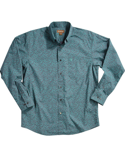 Ariat Men's Blue Aromas Print Western Shirt - Tall, Blue, hi-res