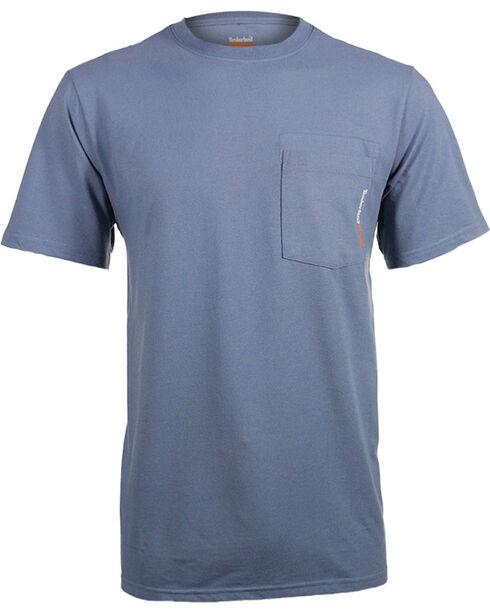 Timberland Pro Men's Blue Base Plate Blended T-Shirt , Blue, hi-res