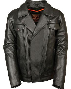 Milwaukee Leather Men's Utility Vented Cruiser Jacket - Tall 4X, Black, hi-res
