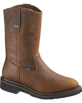 Wolverine Men's Breck Steel Toe Waterproof Wellington Boots, Dark Brown, hi-res