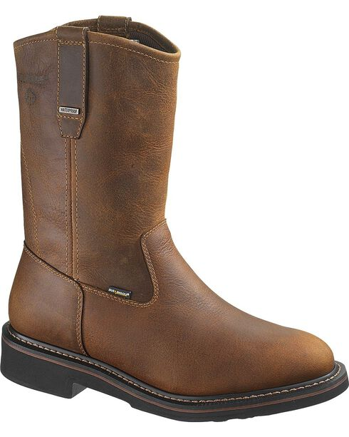 Wolverine Men's Breck Steel Toe Waterproof Wellington Boots, Dark Brown, hi-res