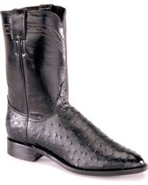 "Justin Men's 10"" Full Quill Ostrich Exotic Boots, , hi-res"