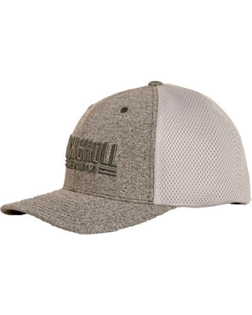 Rock & Roll Cowboy Men's Embroidered Airmesh Cap, Light Grey, hi-res
