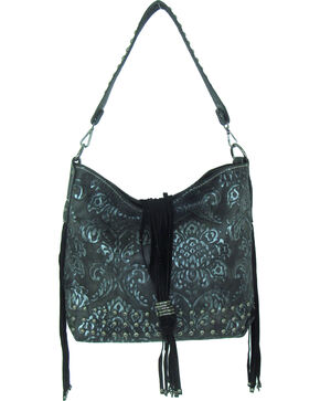 Savana Women's Tooled Concealed Carry Handbag, Silver, hi-res