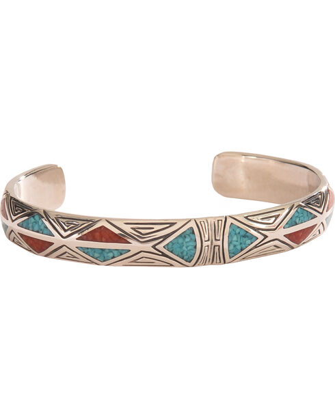 Silver Legends Women's Triangle Bracelet , Turquoise, hi-res