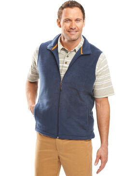Woolrich Men's Andes II Fleece Vest, Indigo, hi-res