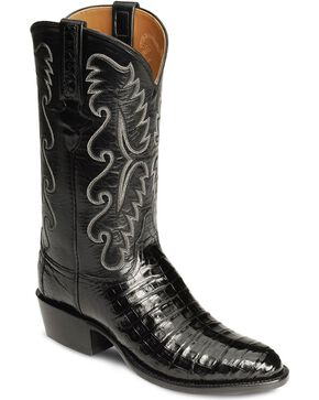 Lucchese Handmade Classics Caiman Ultra Belly Cowboy Boots - Medium Toe, Black, hi-res