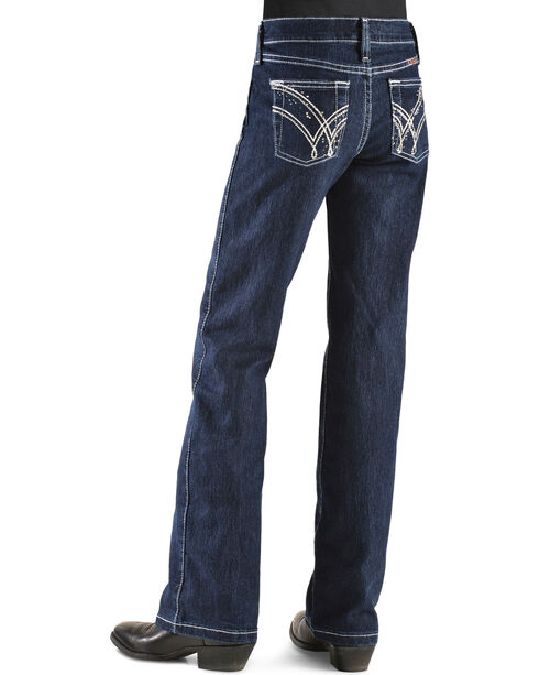 Wrangler Girls' Q Baby Ultimate Riding Jeans - 4-6X, Indigo, hi-res