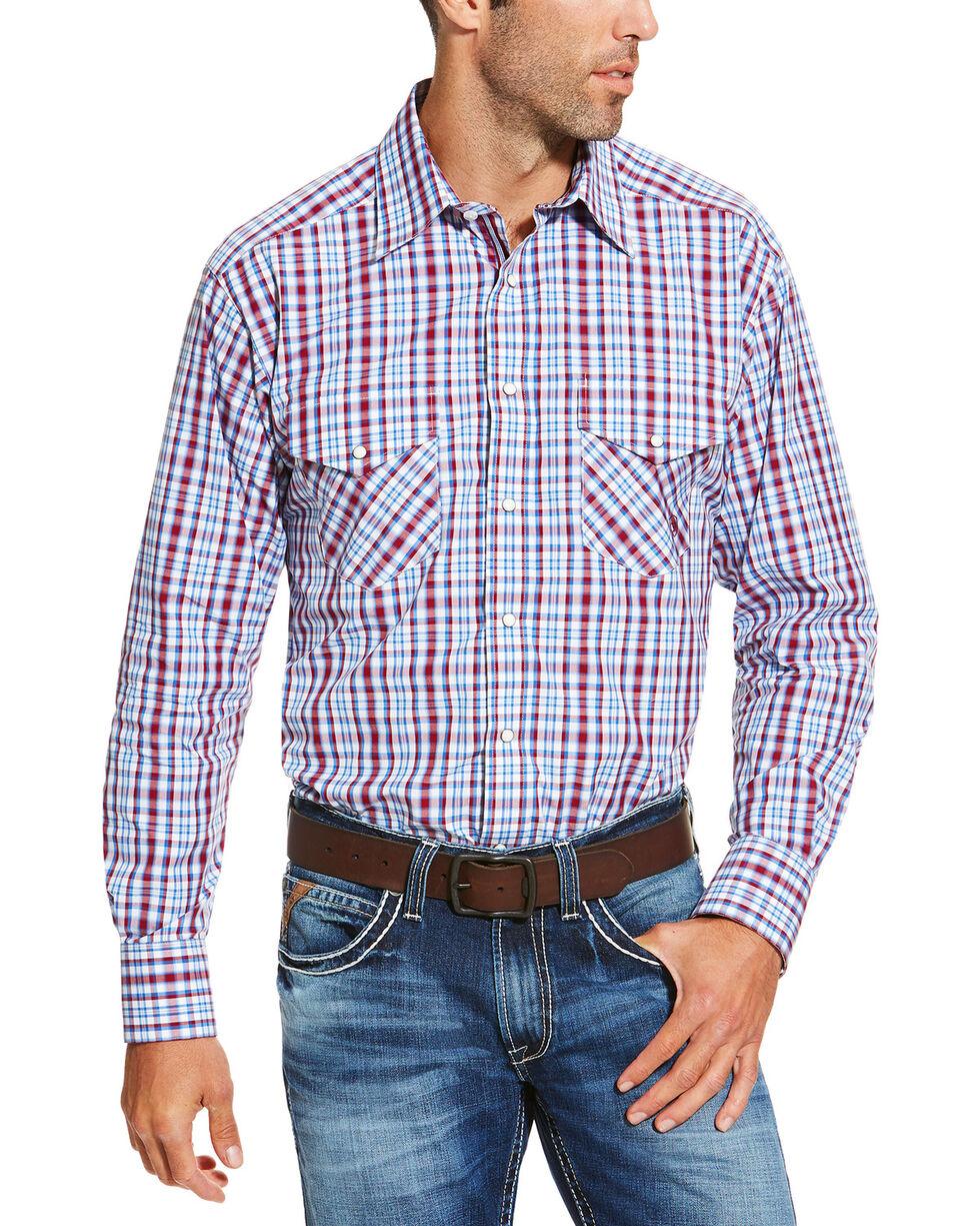Ariat Men's Red Austin Snap Shirt, Red, hi-res