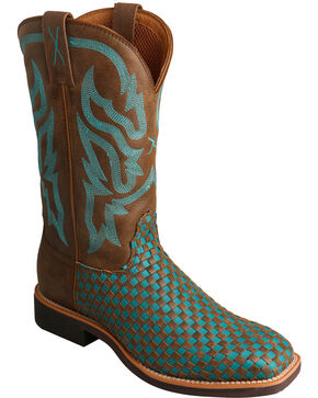 Twisted X Women's Top Hand Woven Western Boots, Brown, hi-res