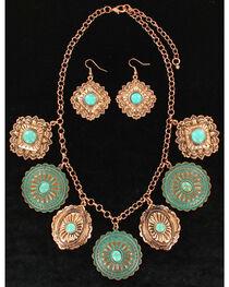 M&F Western Women's Dangle Disc Jewelry Set , , hi-res
