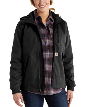 Carhartt Quick Duck Jefferson Jacket, Black, hi-res