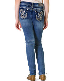 Grace in LA Girls' Abstract Skinny Jeans, , hi-res