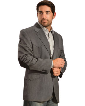 Circle S Men's Houston Elbow Patch Sport Coat, Grey, hi-res