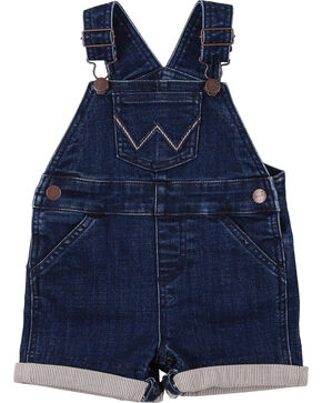 Wrangler Toddler Boys' Indigo Denim Shorttall Overalls, Indigo, hi-res