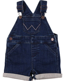 Wrangler Toddler Boys' Indigo Denim Shorttall Overalls, , hi-res