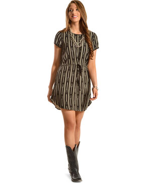 Black Swan Women's Sienna Woven Dress, Black, hi-res