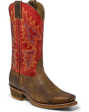 Nocona Men's Arrowhead Western Boots, Brown, hi-res