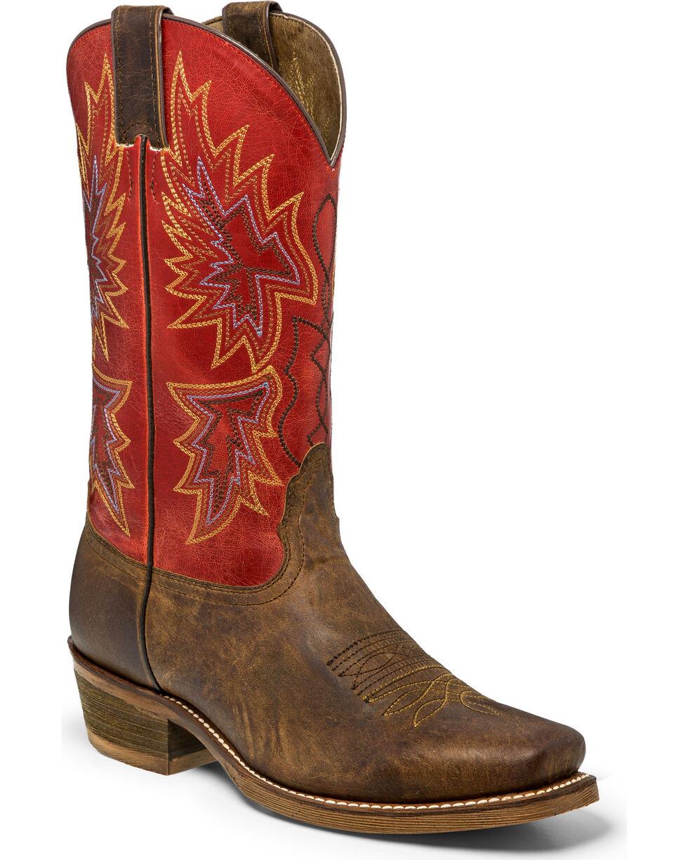 Nocona Men's Arrowhead Western Boots, Brown, hi-res