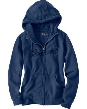 Carhartt Women's Clarksburg Hoodie Jacket, Indigo, hi-res